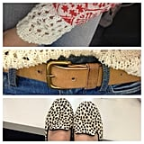 Ali's gorgeous details — a Lilya knit, Zara jacket, Marc Jacobs belt and Topshop flats — made for one very pretty ensemble.