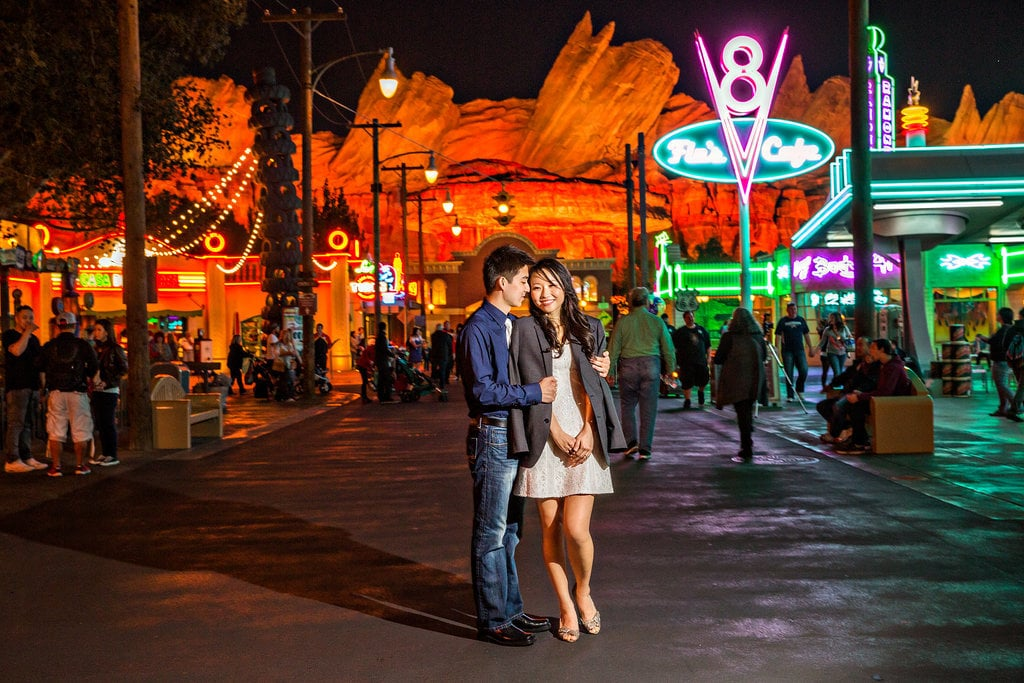 Spend the evening at Cars Land in California Adventure.