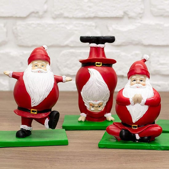 Amazon's Selling the Cutest Yoga Santa Claus Figurines