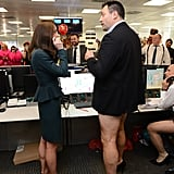 When Kate Casually Chatted With a Man With No Pants On