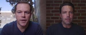 Matt Damon Makes Fun of Ben Affleck's Chin During Argument Over Tom Brady