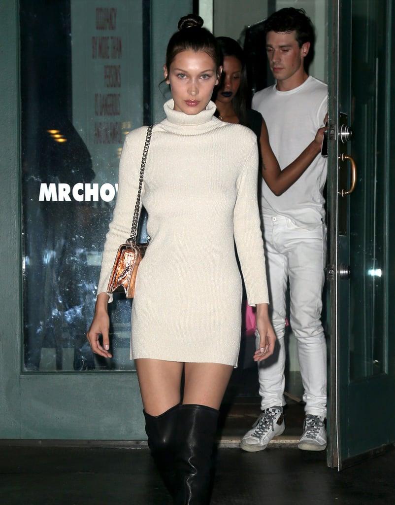 She Also Carried a Metallic Dior Bag