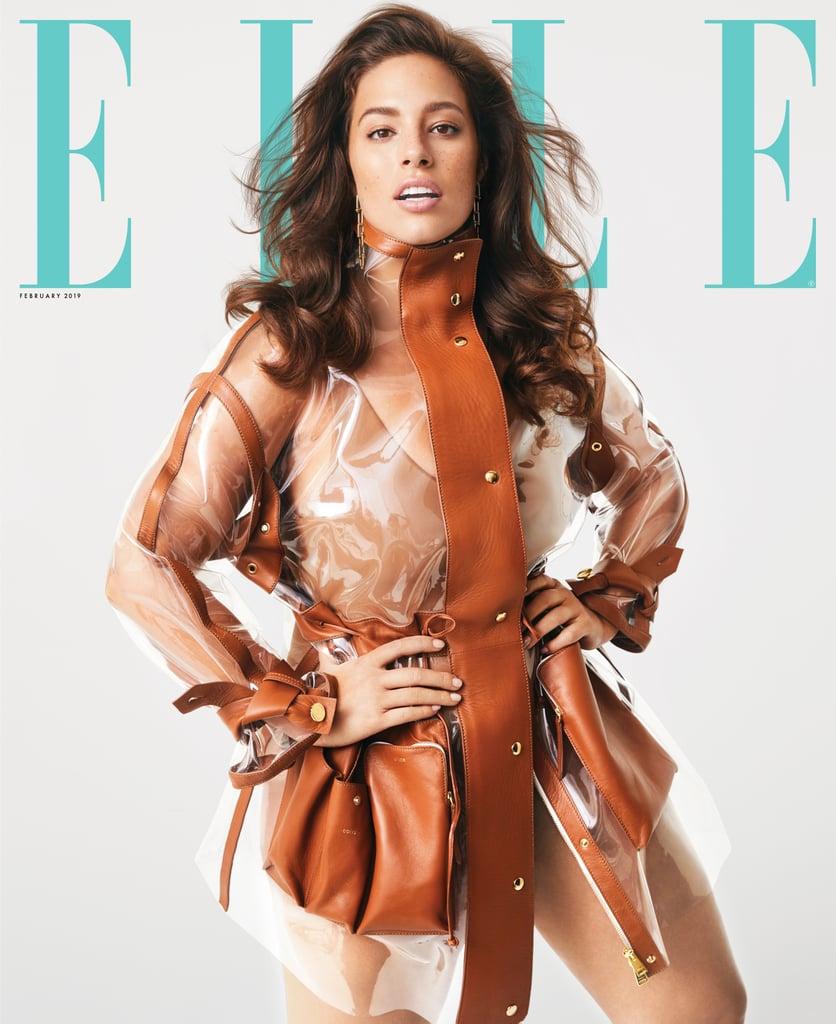 d640892a275 Ashley Graham's White Swimsuit in Elle Magazine | POPSUGAR Fashion