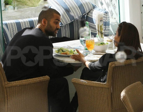 Pictures of Eva Longoria and Tony Parker Getting Lunch Despite Their Divorce