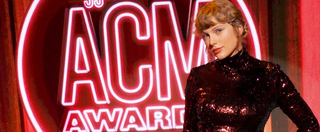 Taylor Swift Wore a Sequinned Top and Trousers to ACM Awards