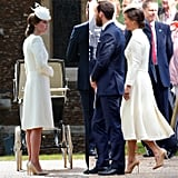 When They Wore White Coat Dresses and Fascinators — at the Same Time! — For Charlotte's Christening