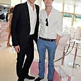 Tom and Eddie looked dapper at a Wimbledon event in June 2012.