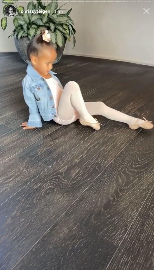 "At only 4 years old, Luna Stephens is already a child of many talents: her vocals are unmatched, she helps her mom cook, and she's even a budding ballerina. In a series of videos Chrissy Teigen shared on her Instagram Stories Wednesday night, John Legend snapped photo after photo of daughter Luna rocking various ballerina moves. She twirled and posed in an adorable pale pink leotard and matching scrunchie, in addition to some teeny ballet slippers and a custom jean jacket.  ""Do some ballerina moves!"" Chrissy said, as John remained focused on capturing all of Luna's angles. His commitment to the shot was pretty impressive, as he kneeled on the floor and even utilized Portrait Mode. Luna offered a variety of poses and hit all the angles, proving that she really is her mom's daughter. Check out some snaps from Chrissy's sweet Stories below.      Related:                                                                                                           Chrissy Teigen's Video of Luna Offering to Help Miles on the Playground Is Purely Precious"