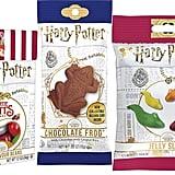 Harry Potter Jelly Gummy Candy Slugs, Bertie Botts Jelly Beans, and Chocolate Crispy Frogs