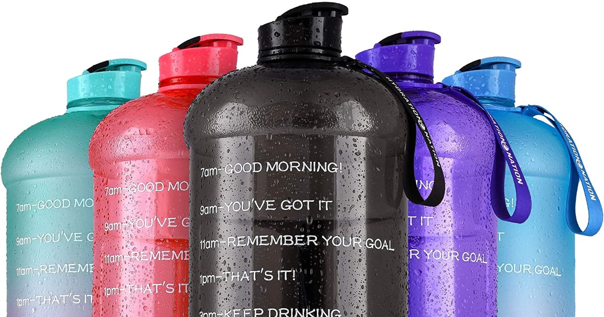 "With These Colorful Gallon-Size Water Bottles, You'll Never Say, ""I'm Thirsty!"" Again"