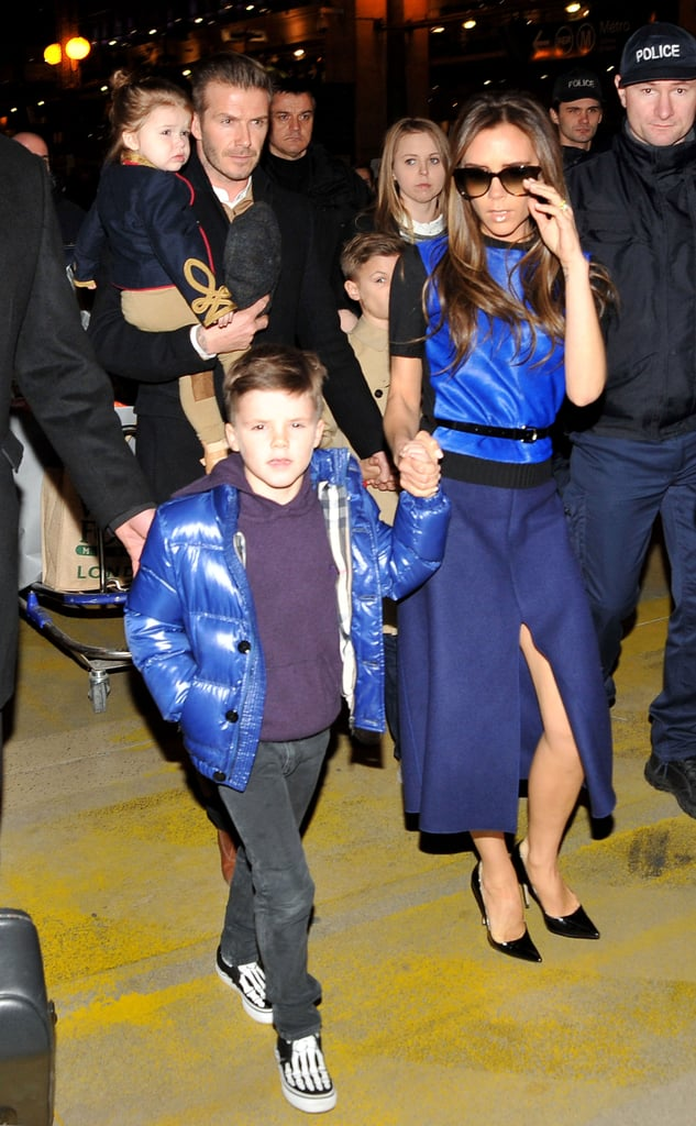 The Beckhams arrived in Paris.