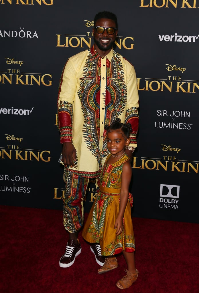Pictured: Lance Gross and Berkeley Gross at The Lion King premiere in Hollywood.