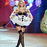Toni Garrn wore balloons as part of the Victoria's Secret Fashion Show.