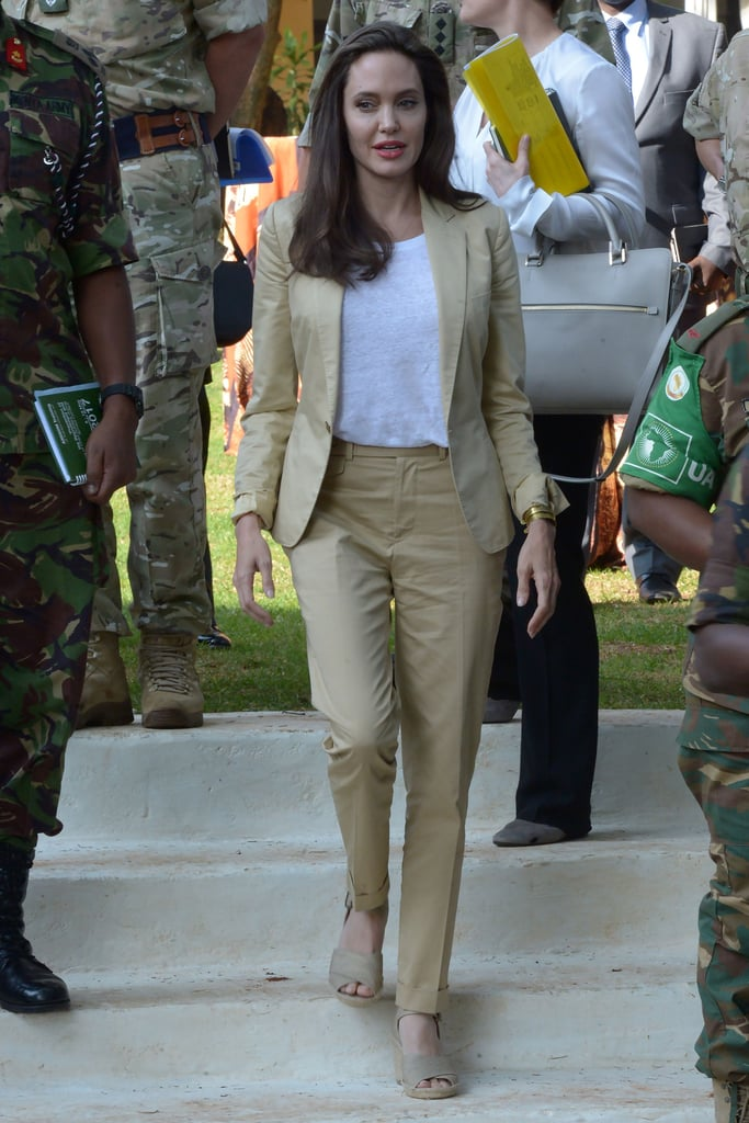 Angelina Spoke at the International Peace Support Centre in Nairobi, Kenya