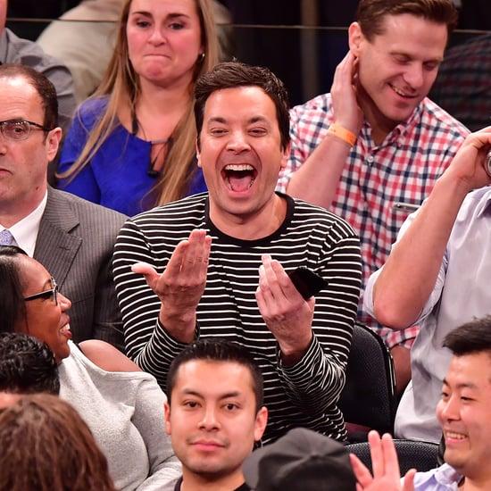 Jimmy Fallon at the Knicks Game January 2017