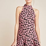 ML Monique Lhuillier Rita Ruffled Mini Dress