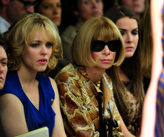 Slide Photo of Rachel McAdams and Anna Wintour Watching Show at NY Fashion Week