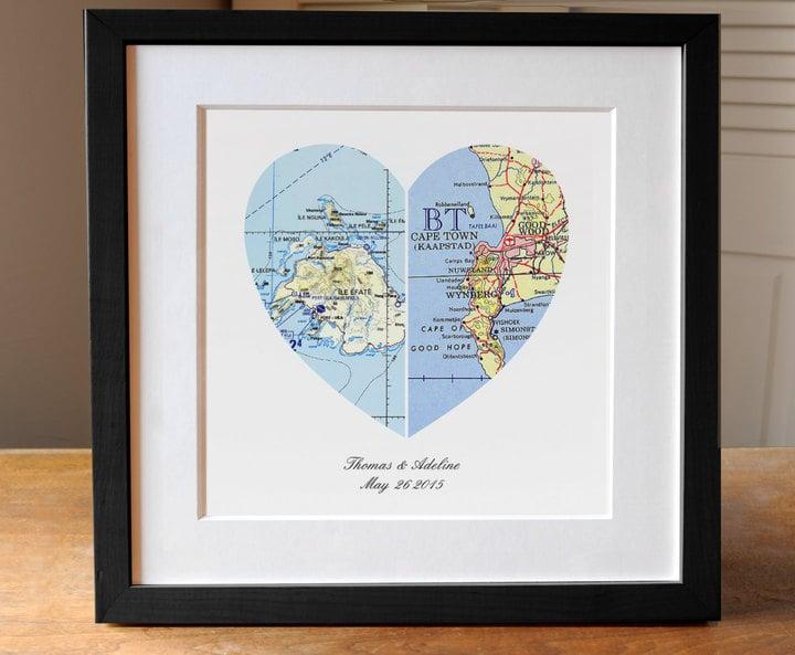 Heart Map Gift Cheap Engagement Gifts Popsugar Moms