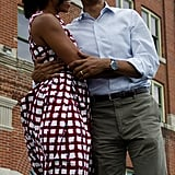 The Obamas couldn't keep their hands off each other.