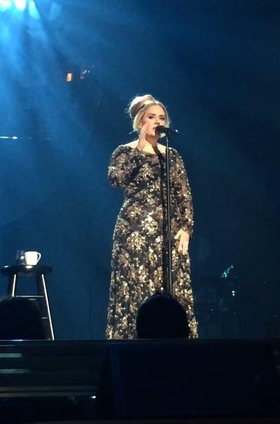Adele's Gold Dress at Radio City Music Hall