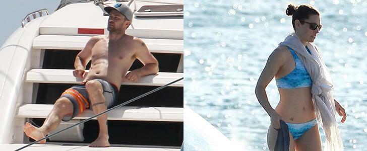 Justin Timberlake and Jessica Biel in Barbados 2014