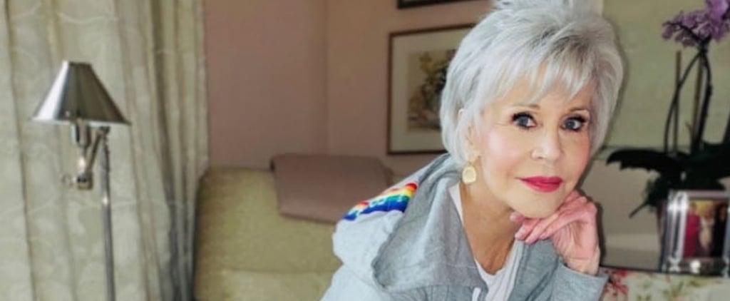 Jane Fonda Made Sweatsuits For Coronavirus Relief