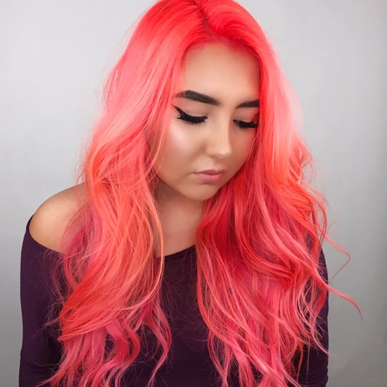 Neon Peach Hair Colour Trend