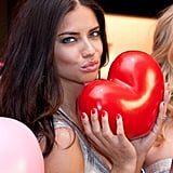 Adriana Lima is getting ready for Valentine's Day.