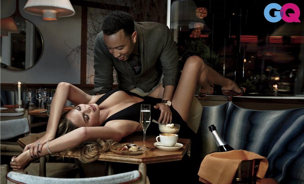 John Legend and Chrissy Teigen GQ Photo Shoot February 2015