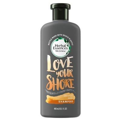 Herbal Essences Coconut Milk Shampoo in the Beach Plastic Bottle