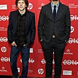 Jesse Eisenberg and Richard Ayoade attended The Double's premiere on Friday.