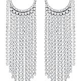 Swarovski Crystal Fringe Hoop Earrings