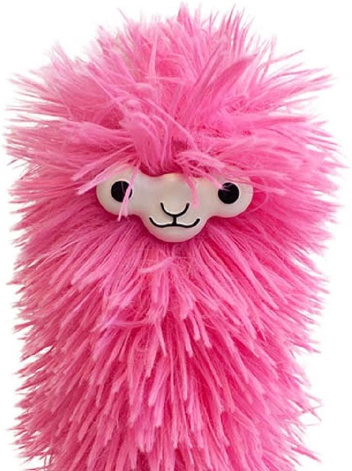 Fuzzy Pink Llama Duster