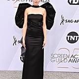 Alison Brie Black Dress at the SAG Awards 2019