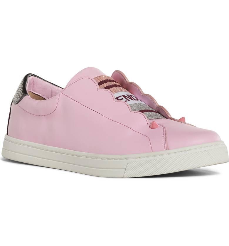 f4cb9763 Fendi Knit Leather Slip-On Sneaker, Pink   Best Slip-On Sneakers ...