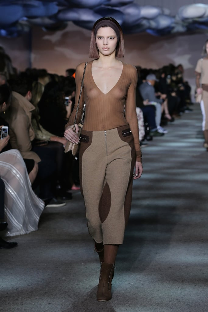 Kendall Jenner showed off her model strut when she walked in Marc Jacobs's Fall 2014 fashion show during New York Fashion Week on Thursday.