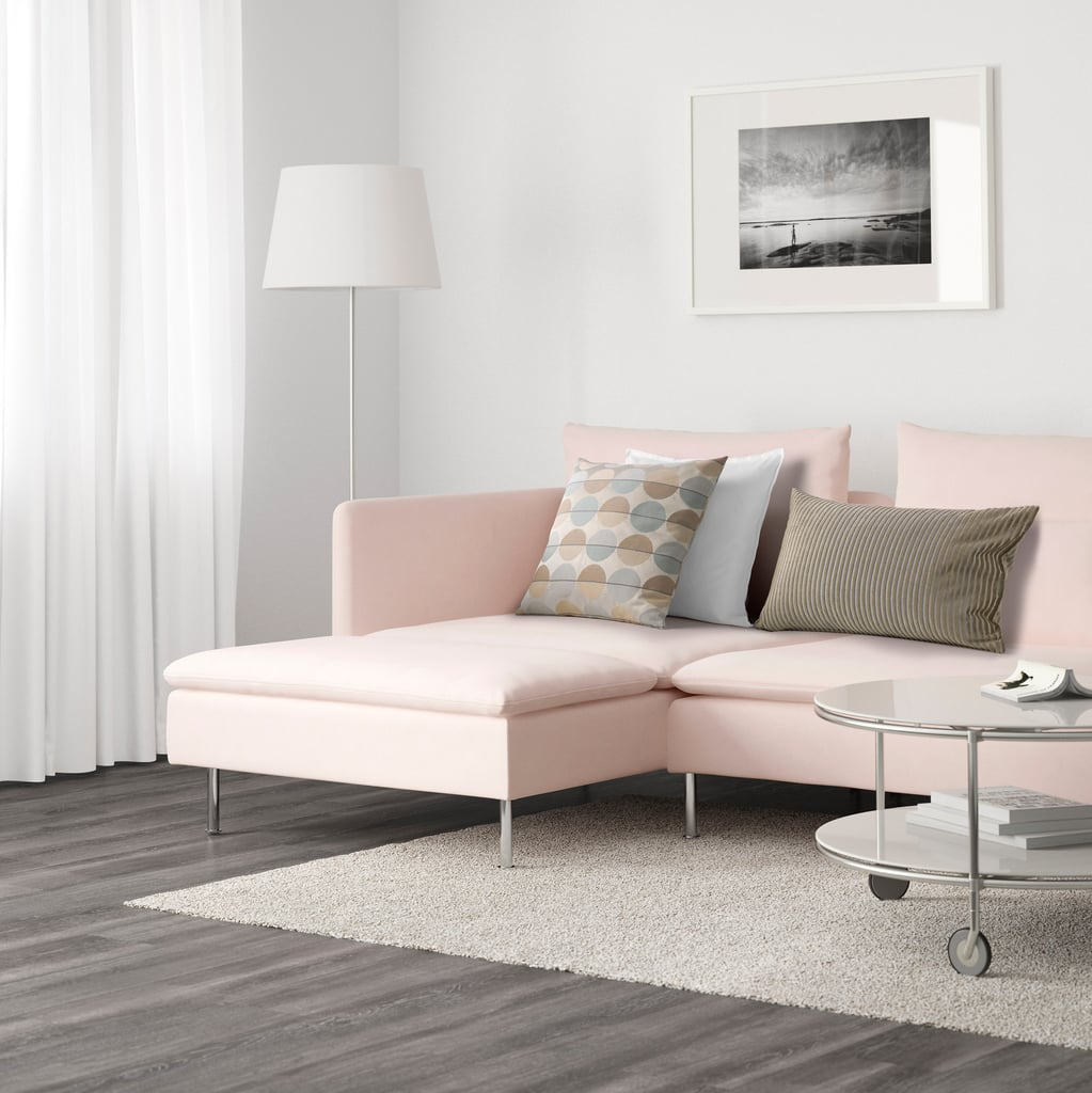 Ikea s derhamn sectional best pink couches popsugar for Chaise longue bank