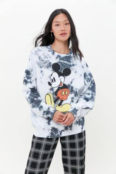 Mickey Mouse Tie-Dye Crew Neck Sweatshirt