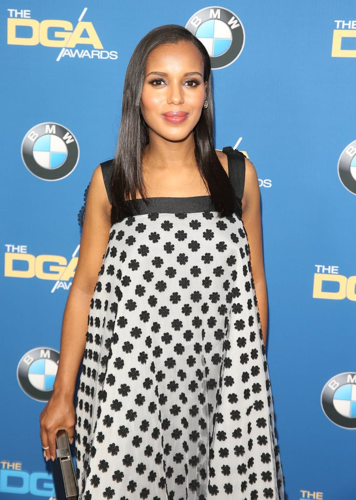 Kerry Washington brought her baby bump to the Directors Guild Awards red carpet.