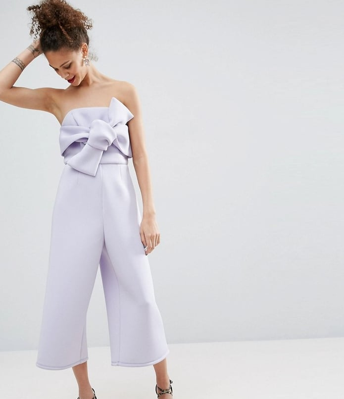 Asos Structured Occasion Bow Jumpsuit (£55)