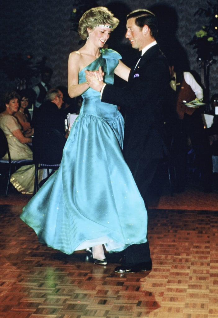 The couple looked thrilled on the dance floor during their 1985 visit to Melbourne, Australia.