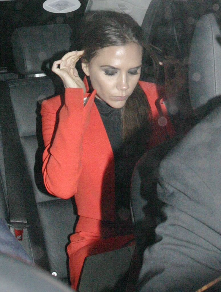 Victoria Beckham Attends a Valentino Bash in Royal Company