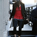 Sandra Bullock left the gym solo.