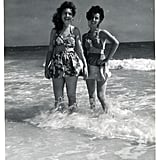 1940s Two bathing beauties hit up a Florida beach on the Gulf of Mexico in the early '40s. Source: Flickr User rich701
