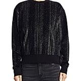 Saint Laurent Velour Metallic Sweatshirt