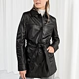 & Other Stories Belted Leather Trench