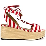"Sonia Rykiel's Striped Platform Sandals ($450) scream ""Summer picnic."""