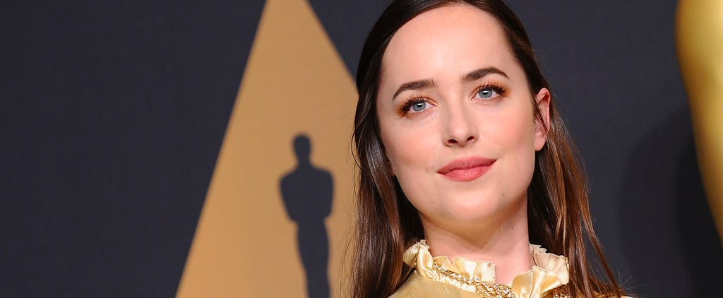 "Dakota Johnson Jokes at the Oscars: ""I'm Actually Not Wearing Any Makeup"""