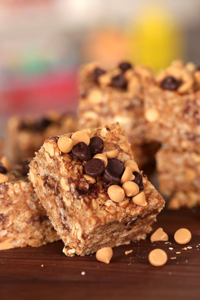 Peanut Butter and Chocolate Chip Granola Bars