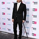 We don't know how, but Brad managed to look super hot even while hobbling around with a cane at the Critics' Choice Movie Awards in January 2012.